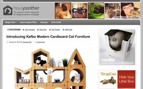 Introducing Kafbo Modern Cardboard Cat Furniture