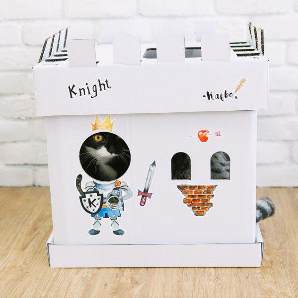 White Castle Cube The Knight Sticker (The Tuxedo Cat)